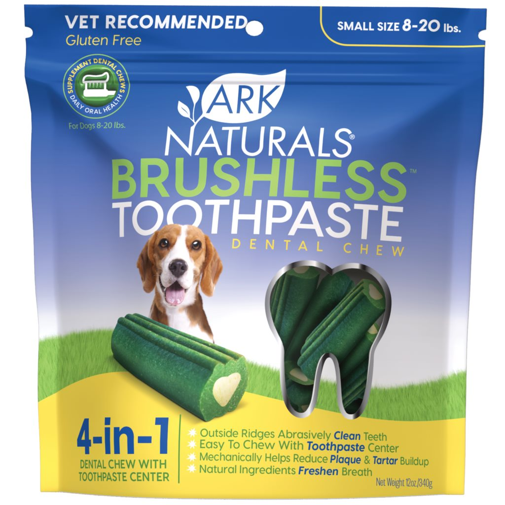 Ark Naturals Brushless-Toothpaste 亮白牙齒小食 (小型犬用) 12oz