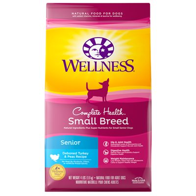 Wellness Complete Health 全能配方 - 小型老犬 (火雞豌豆) 4lb (細粒)