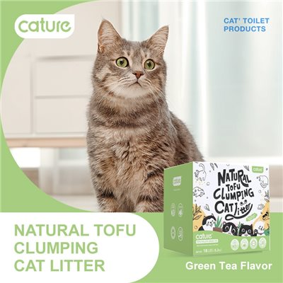 Cature 迦爵 Green Tea Tofu Pellet 豆腐貓砂 (綠茶味) 20L