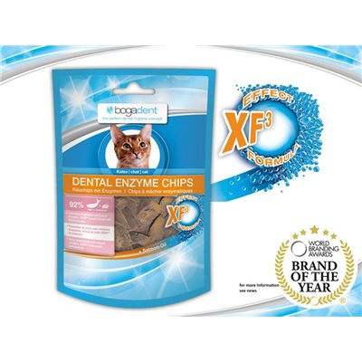 bogadent® Dental Enzyme Chips Cat (Fish) 天然酵素防牙石小食 (魚) 50g (貓用)