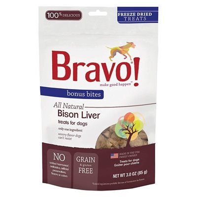 Bravo - Freeze Dried Bison Liver 脫水野牛肝 3oz