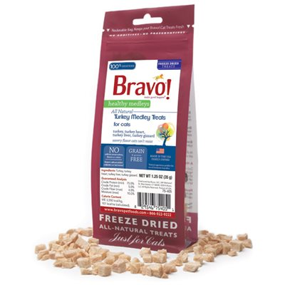 Bravo - Freeze Dried Healthy Medley Turkey with Liver 脫水走地火雞雜錦 貓小食1.25oz