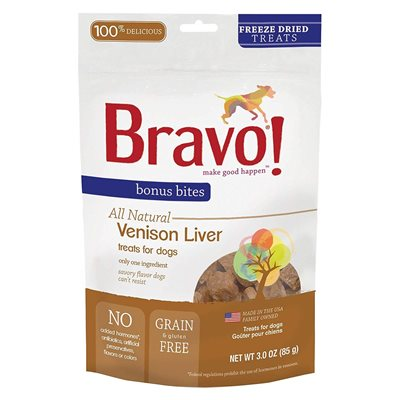 Bravo - Freeze Dried Venison Liver 脫水草飼鹿肝 3oz.