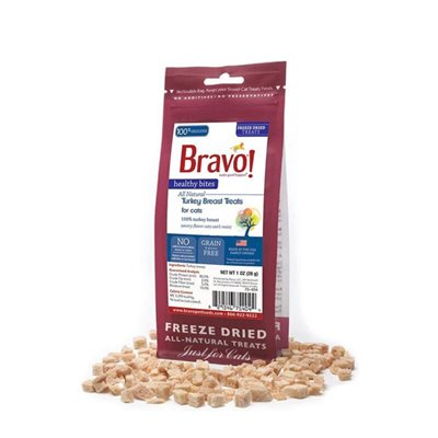 Bravo - Freeze Dried Healthy Bites Turkey Breast 脫水火雞胸貓小食 1oz
