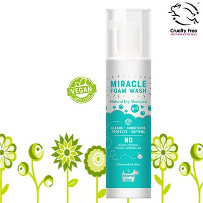 Hownd 享樂 - MIRACLE Natural Dry Foam Wash 植物配方乾洗泡泡 200ml