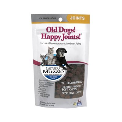 Gray Muzzle (By Ark Naturals) Old Dog! Happy Joints! 年長專用關節保健配方 (中小型犬) 90粒