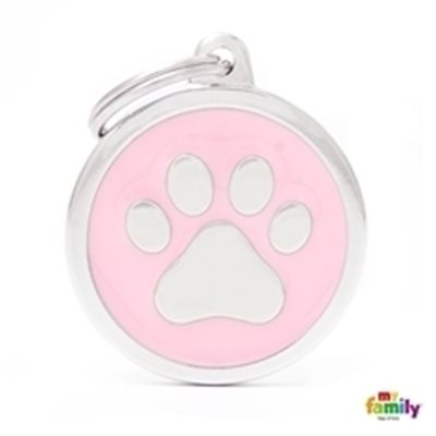 My Family - Classic Pink Big Circle Paw (CH17PINKPAW)