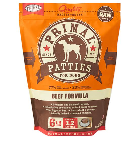 Primal (原始)-Canine Frozen Formula (Beef)犬用急凍鮮肉- 牛配方 6lb (4包優惠裝)