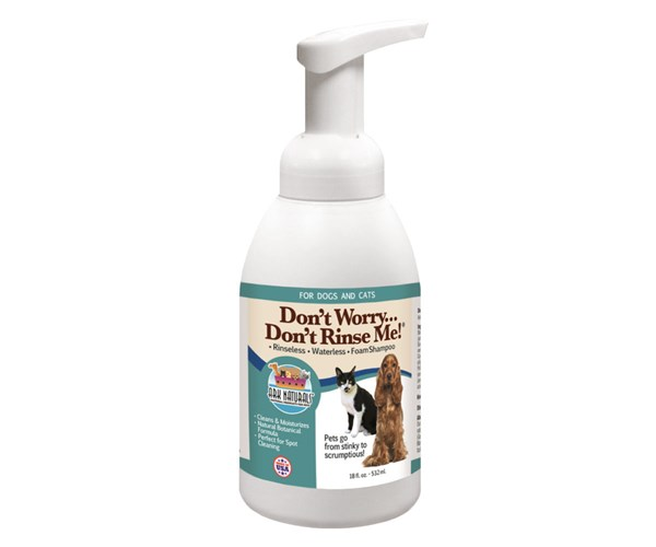 "Ark Naturals ""Don't Worry Don't Rinse Me!"" 免沖洗潔毛保濕泡沫 18oz (532ml)"