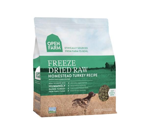 Open Farm Freeze-Dried Dog (Turkey) 無穀物火雞蔬果冷凍脫水狗糧 13.5oz