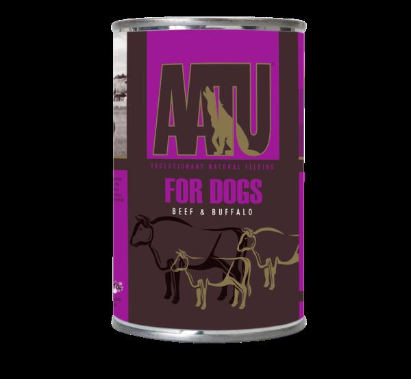 AATU 全配方 狗罐頭 - 水牛、牛肉 400g