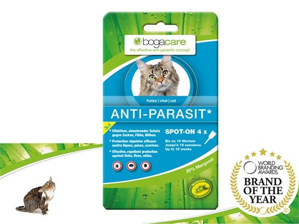 bogacare® ANTI-PARASIT Spot-on (CAT) 天然驅蝨滴頸劑 (貓用)