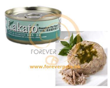Kakato 卡格 Tuna & Seaweed 吞拿魚、紫菜罐頭 (貓狗合用) 170g