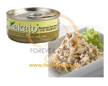 Kakato 卡格 Chicken Fillet 雞柳 罐頭 (貓狗合用) 70g