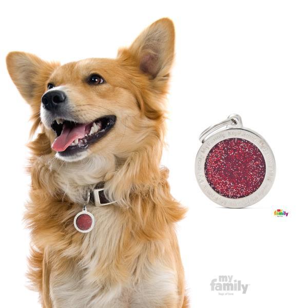 My Family - Shine & Reflective Big Circle Glitter Red (GL04BIGR)