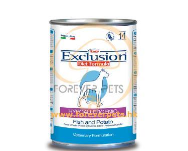 Exclusion Diet Fish & Potato ( 罐頭 ) 無穀物成犬配方 - 丹麥鯡魚 400g