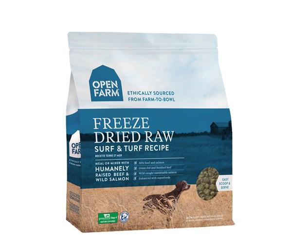 Open Farm Freeze-Dried Dog (Surf & Turf) 無穀物野生三文魚牛肉蔬果冷凍脫水狗糧 13.5oz