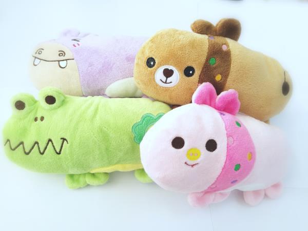 發聲 毛毛玩具 - 動物小抱枕(款式隨機)