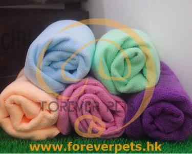 寵物專用快速吸水毛巾 (大) - 藍