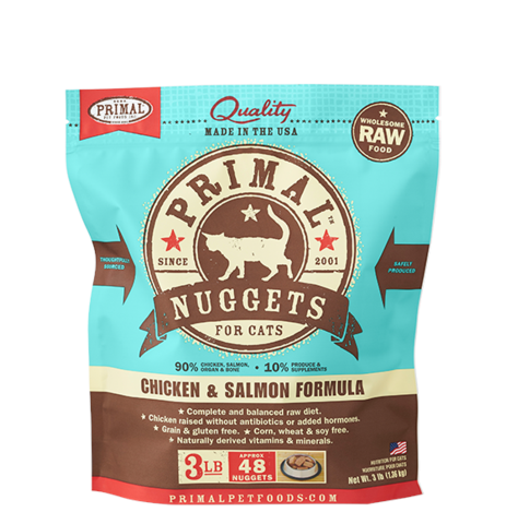 Primal (原始)-Feline Frozen Formula (Chicken&Salmon)貓用急凍鮮肉- 雞加三文魚配方 3lb