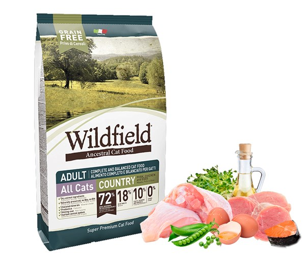Wildfield Cat Country 無穀物全貓原野配方-豬、雞、雞蛋 2kg