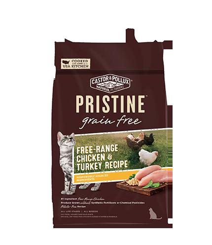 Pristine 無穀物 全貓糧 放養雞 火雞 配方 6lb