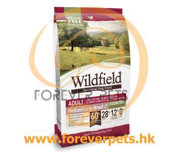 Wildfield 祖泉 低敏無穀物 中至大型成犬 原野配方 - 豬、兔、雞蛋 (M/L) 2kg