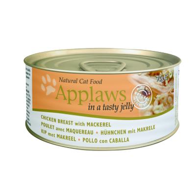 Applaws 全天然 啫喱 罐頭 - 雞胸 + 鯖魚 70g (細)