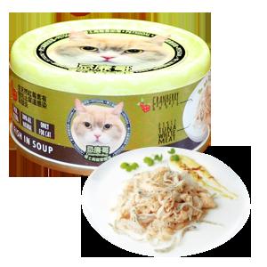 Petsgoal x 忌廉哥 貓罐頭 -  吞拿魚 白飯魚 70g