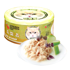 Petsgoal x 忌廉哥 貓罐頭 -  吞拿魚 三文魚 70g