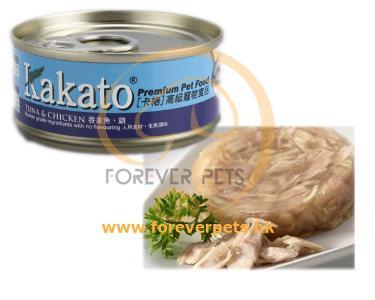 Kakato 卡格 Tuna & Chicken 吞拿魚 雞肉 罐頭 (貓狗合用) 170g