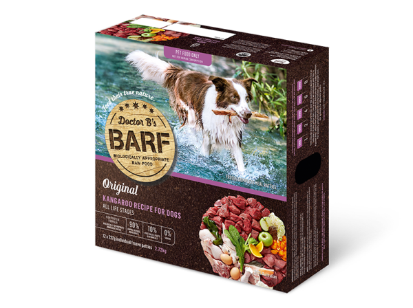 Dr. B (R.A.W. Barf)急凍狗糧 - Kangaroo 袋鼠肉蔬菜 2.72Kg
