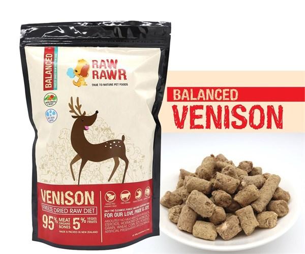 Raw Rawr 鹿肉凍乾生肉狗糧 1.2kg
