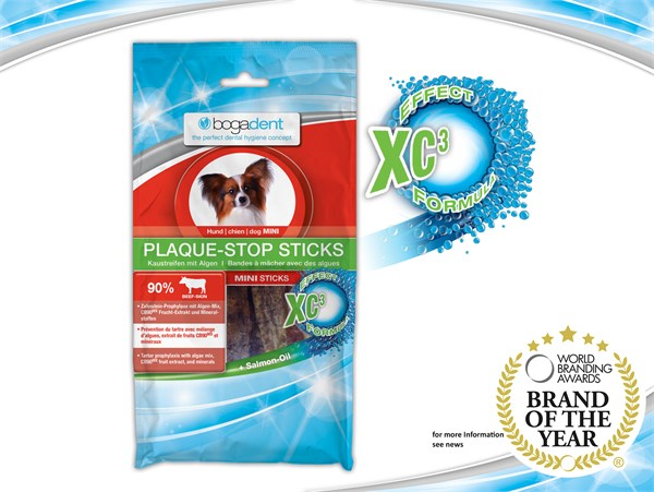 bogadent® PLAQUE STOP Sticks  (Mini) 天然海藻除牙石條 (小型犬) 100g