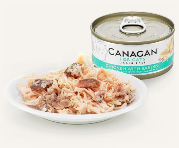 Canagan Chicken With Sardine 無穀物 雞肉伴沙甸魚 (鮮藍) 75g