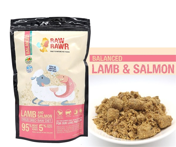 Raw Rawr 羊肉 + 三文魚凍乾生肉狗糧 400G