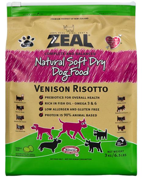 Zeal 鹿肉 Venison Risotto 天然軟乾糧 (狗) 3kg
