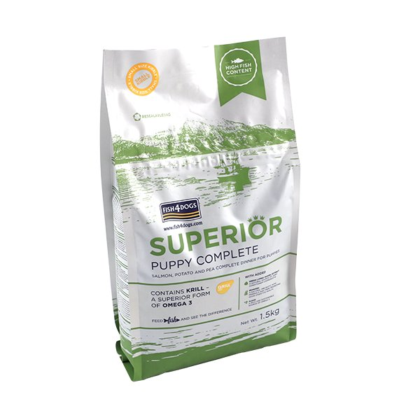 Fish4DogsSuperiorPuppy Food Complete海洋升級系列三文魚幼犬配方 1.5kg