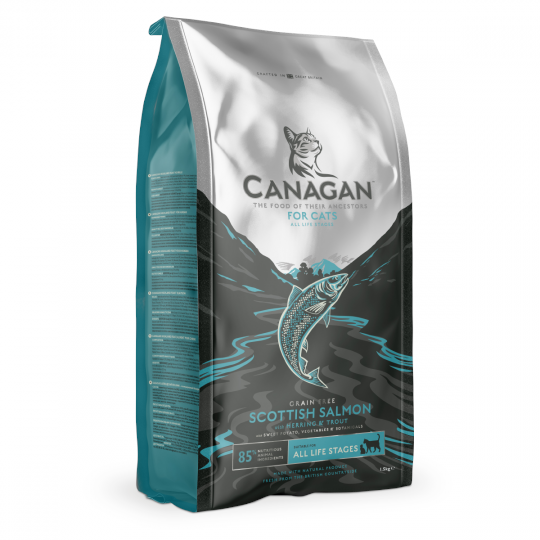 Canagan Scottish Salmon For Cats 無穀物蘇格蘭三文魚 (全貓糧) 1.5kg (銀藍)