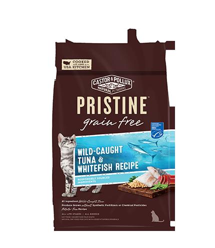 Pristine 無穀物 全貓糧 野生捕撈吞拿魚 白魚 配方 6lb
