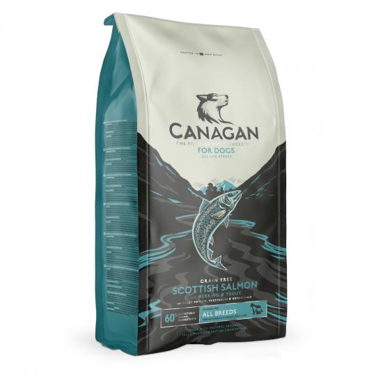 Canagan Scottish Salmon For Dogs 無穀物蘇格蘭三文魚 (全犬糧) 2kg (藍色)