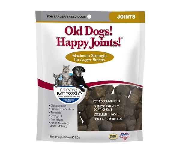 近期貨品 : Gray Muzzle (By Ark Naturals) Old Dog! Happy Joints! 年長專用關節保健配方 (大型犬) 16oz