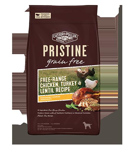 Pristine 無穀物 全犬糧 放養雞 火雞 扁豆 配方 4lb
