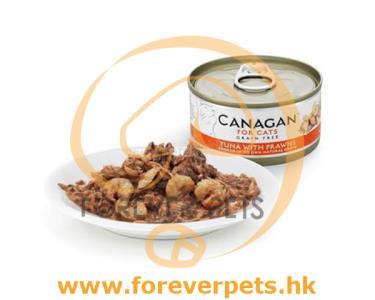 Canagan Tuna with Prawns 無穀物 吞拿魚伴大蝦 (橙) 75g