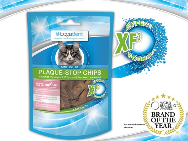 bogadent® Plaque Stop Chips Cat (Fish) 天然海藻除牙石小食 (魚) 50g (貓用)