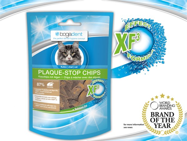 bogadent® Plaque Stop Chips Cat (Chicken) 天然海藻除牙石小食 (雞) 50g (貓用)