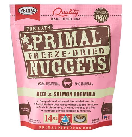 Primal (原始)-Feline Freeze-Dried Formula (Beef&Salmon) 脫水糧 貓配方 - 牛加三文魚 14oz
