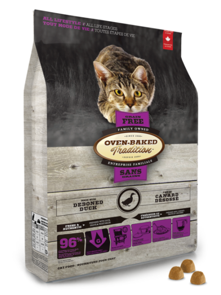 Oven-Baked Cat 無穀配方 - 鴨肉火雞 10lb (紫)