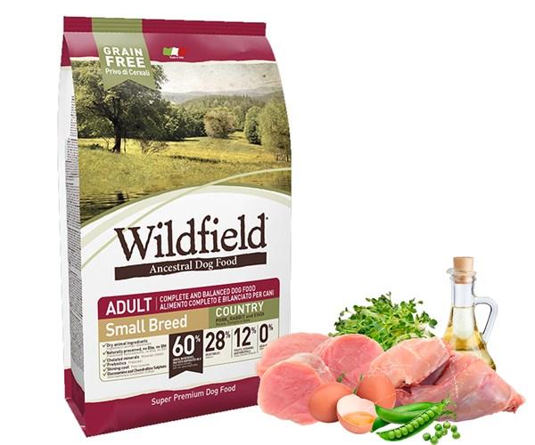 Wildfield 祖泉 低敏無穀物 小型成犬 原野 (Country) 配方 - 豬、兔、雞蛋 (S) 2kg