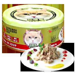 Petsgoal x 忌廉哥 貓罐頭 -  吞拿魚 花鯖魚 70g